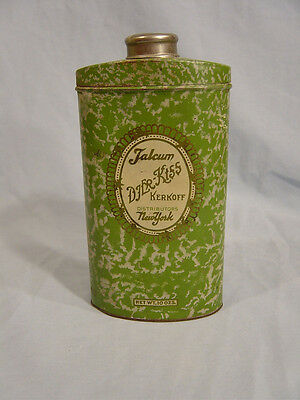 Kerkoff  Djer-Kiss Talcum Powder Tin  from New York