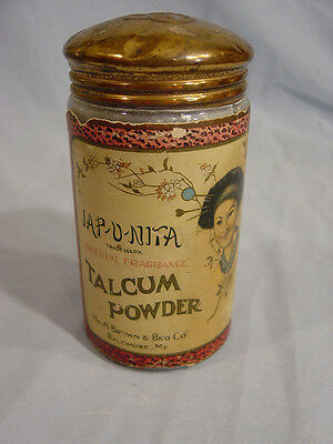 Jap-o-nita Talcum Powder Bottle by  Wm H Brown & Bro Co of Baltimore MD