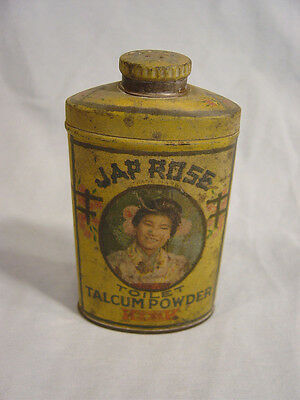 Kirk  Jap Rose Toilet  Talcum  Powder Tin  Chicago