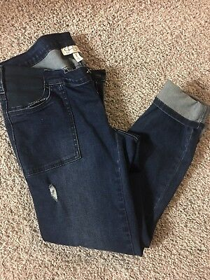 Jessica Simpson Maternity Jeans Pants Dark Wash Under Belly Skinny Size medium