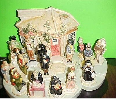 16 Dickens SEBASTIAN MINIATURES with cottage on base etc