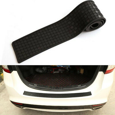 Rubber Rear Guard Bumper Protector Trim Carbon fiber lattice car sticker plate