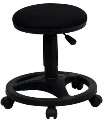 Flash Furniture Black Ergonomic Adjustable Stool with Foot Ring