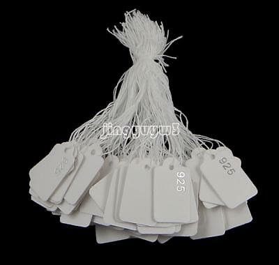 925 Logo 500PC/Bag White Paper Jewelry Clothes Label Price Tag Rectangle