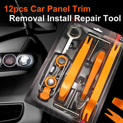 12 pcs Car Dashboard Stereo Trim Removal Installation  Pry Kit Tool Set