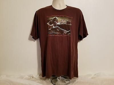 Vintage Grateful Dead Jerry Garcia Playing a Guitar Adult Brown XL TShirt