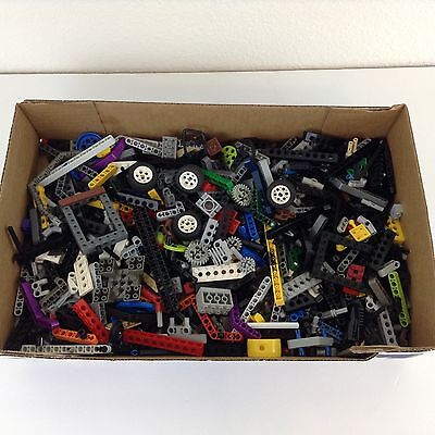 LEGO Bulk lot TECHNIC MIndstorm Parts 2 lb pound Beams Gears Axles Tires & More