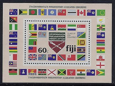 1981 Fiji Commonwealth Parliamentary Association Minisheet Fine Mint Mnh/muh