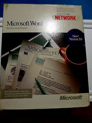 "Microsoft Word 2 series - Network program 5 1/4"" disk and Manual"