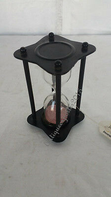 Reproduction Pink Sand Timer Beautiful Vintage Nautical Mini Sand Timer