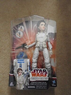 "Star Wars Forces of Destiny Adventure Figure Friends - Leia & R2-D2 11"" Figures"