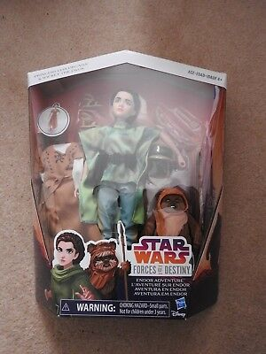 "Star Wars Forces of Destiny Endor Leia Adventure 11"" Figure Set"