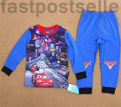 Cars Lightning Mcqueen Boys   Pyjamas Sleepwear Long Sleeve T-shirt Costume Set