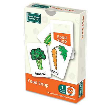 Educational Food Snap / Pairs Card Game for Children or School g23
