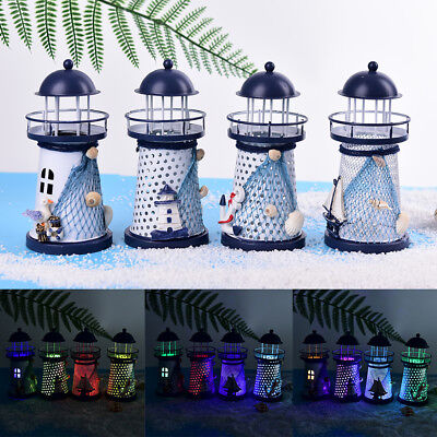 LED light metal lighthouse anchor mediterranean decorative home nautical decorWS