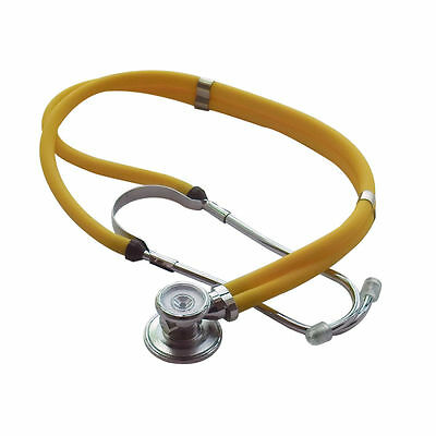 Doctor Dual-Head Dual-barreled Stethoscope Superior Acoustic Yellow