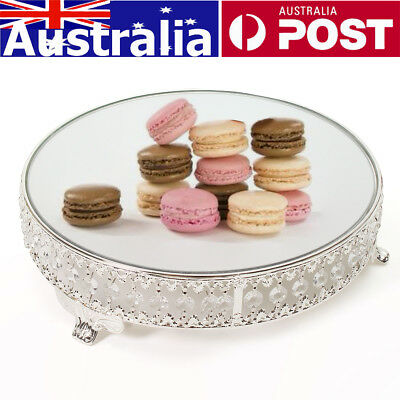 31cm Cake Bake Dessert Stand Round Display Acrylic Mirror Crystal Wedding Party
