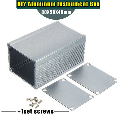 Aluminum PCB Instrument Enclosure Case Electronic Project Box DIY 80*50*40mm
