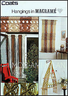 Vintage Macrame Pattern • Walk Thru' Curtain • Wall Hanging • Hanging Shelves