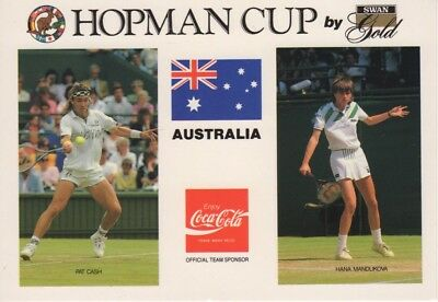 Tennis Australia  - Post Card Pat Cash & Hanna Mandukova