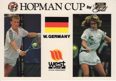 Tennis Germany  - Post Card Steffi Graf & Patrik Kuhnen