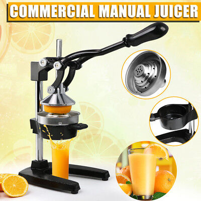 Orange Hand Press Commercial Manual Citrus Fruit Lemon Juicer Juice Squeezer DIY