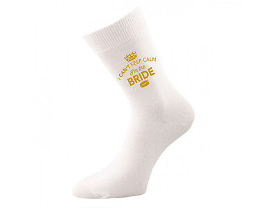 Bride Socks Wedding Keepsake Gift Hen Party Present Cold Feet Her Bride to be