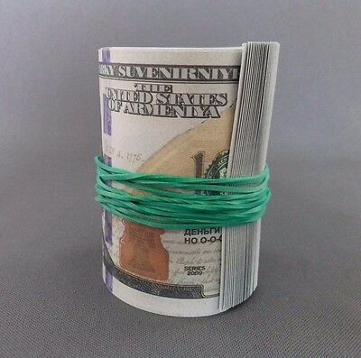 THIN RUBBER BAND FOR MONEY OR OTHER 10 pieces, Green colour