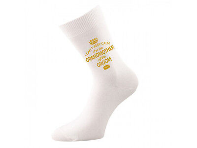Grandmother of Groom Socks Wedding Keepsake Gift Hen Party Present Cold Feet Her