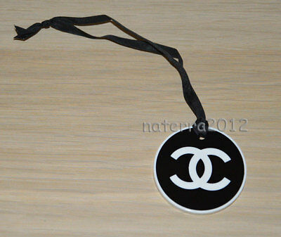CHANEL VIP gift from beauty counter black-white plastic round charm with logoNEW