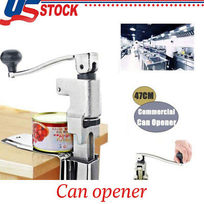 Commercial Can Opener Kitchen Restaurant Chef Heavy Duty Table Bench Clamp S/S