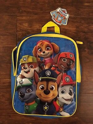New With Tags Paw Patrol Backpack