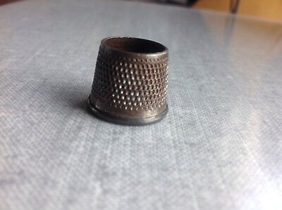 tailors thimble, open ended metal Savile Row tailors thimble stamped size 2