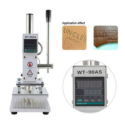Digital Leather Hot Foil Stamping Machine Bronzing 5x7CM PVC Embosser Print 220V