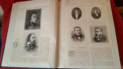 Scrap book. The Strand Magazine 1891. Portraits of Celebrities and their life