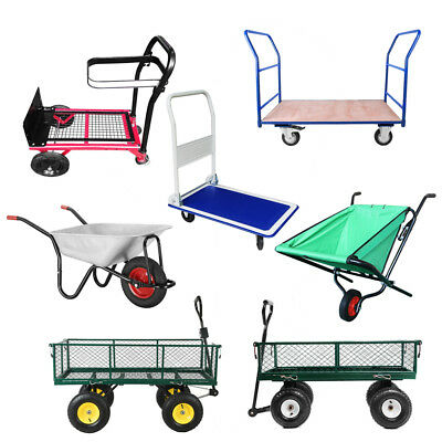 Heavy Duty Garden Barrow Cart Trolley Sack Truck Transport Builders Wheelbarrow