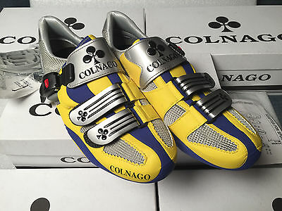 Special Edition COLNAGO YELLOW GRAY BLUE scarpe road cycling campagnolo shoes