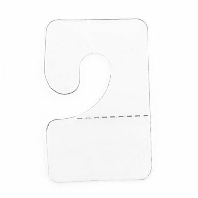 Clear J-Hook Hang Tabs 200-Pcs. Hook Hang Tabs Slatwall Hook Hangers