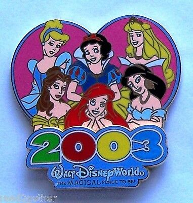 Disney Pin WDW 2003 The Magical Place To Be Princesses