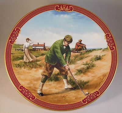 """Royal Worcester """"Golfing Collection"""" Decorative Plates (set of 3)"""