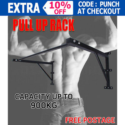 Fitness Functional Pull Up Rack Chin Up Bar Strength Wall Mounted Max 900kg New