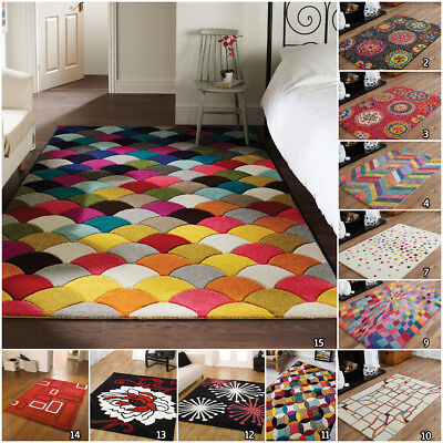 Clearance Small Extra Large Multi Coloured Floral Sale By Flair Acrylic Rugs