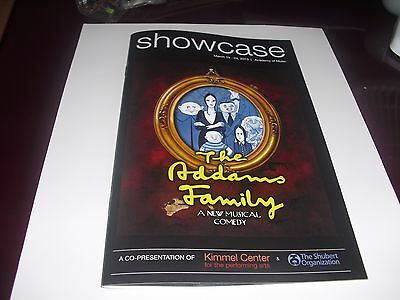 The Addams Family Color Cover Playbill  Off Broadway