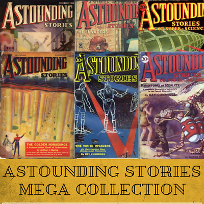 ASTOUNDING STORIES Sci-Fi Pulp Vintage Retro Magazines - 81 Issues - 1 Data-DVD