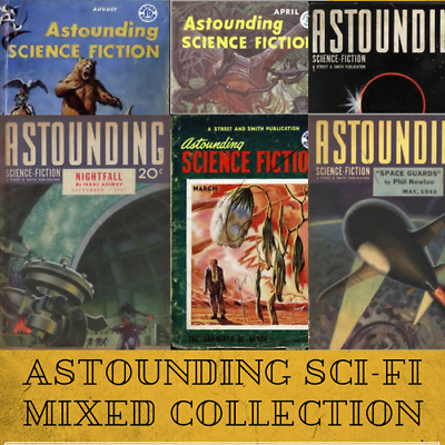 ASTOUNDING SCIENCE FICTION Pulp Magazine Vintage Retro  - 90 Issues - 1 Data-DVD