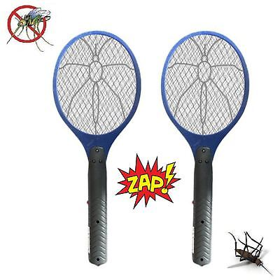 2 x Electric Zapper Bug Bat Fly Mosquito Insect Killer Trap Swat Swatter Racket