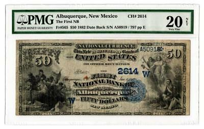 Rare 1882 $50 First National Bank Note (Territorial) Lot 84