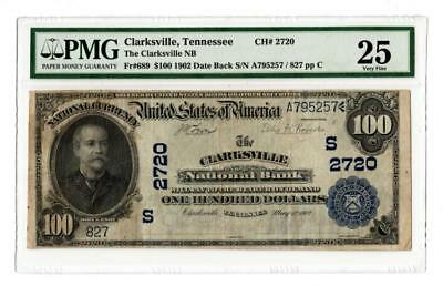 1902 $100 Clarksville National Bank, TN National Banknote Lot 97