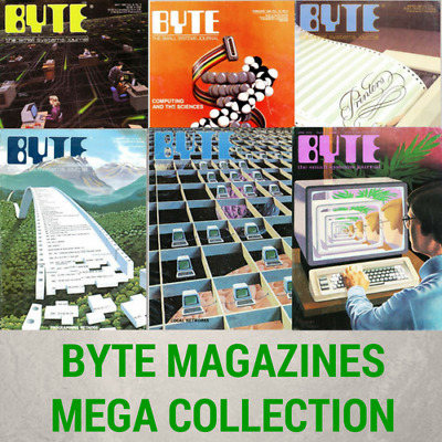 BYTE MAGAZINE Mega Collection Vintage Retro Microcomputer Magazines - 8 Data DVD
