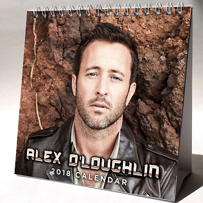 Alex O'Loughlin Desktop Calendar 2018 NEW + FREE GIFT 3 Stickers Hawaii Five-0